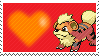 058 - Growlithe by Marlenesstamps