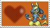 Shiny Lucario by Marlenesstamps