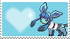 Lizzie The Robot Glaceon by Marlenesstamps