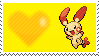 Shiny Plusle by Marlenesstamps