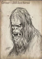 MONSTER DRAWING 2 by Hartman by sideshowmonkey