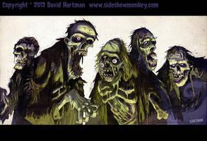 ZOMBIES! by Hartman by sideshowmonkey