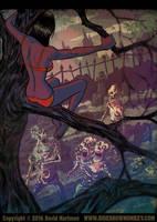 UP A TREE by Hartman by sideshowmonkey