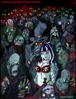 CORPSE CROWD by David Hartman by sideshowmonkey
