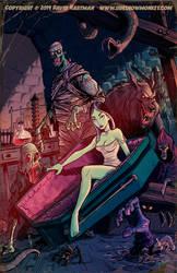 THE NIGHT BEGINS by Hartman by sideshowmonkey