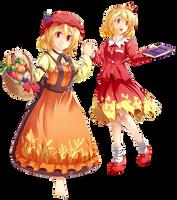 AWA Touhou Scroll Project: Aki Sisters by Banzatou