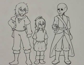 Dark!Origins: Main Trio WIP by SilyaBeeodess