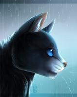 Stand in the Rain ~ Bluestar {+ Speedpaint!} by little-space-ace