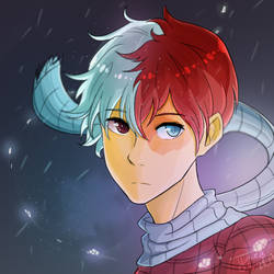 'In His Element' --- Todoroki // MHA by Cloudy-Quill