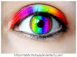 rainbow eye by addictedsp8
