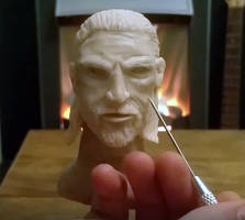 Geralt of Rivea - Miniature Sculpture by makerforge