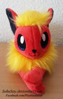 Fuzzy Flareon Beanie Plush by SakuSay