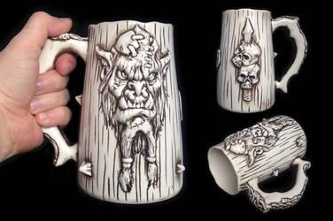 Orc Beer Mug by kachaktano