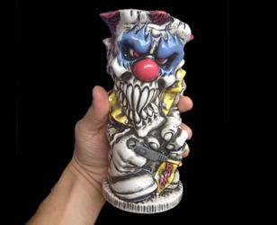 Evil Clown Tiki Mug by kachaktano