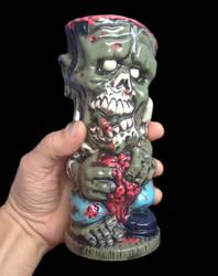 Zombie tiki mug by kachaktano