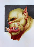Orc Drawing by Icecoldart