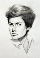 Charcoal portrait sketch by Icecoldart