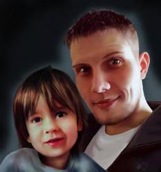 Father-son by SeamanArts-Artwork