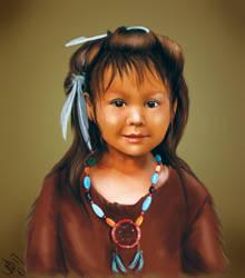 native american child by SeamanArts-Artwork