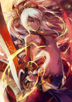 [Puzzle and Dragons]Crimson Lotus Mistress,Echidna by shadowsinking
