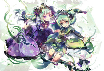 [Puzzle and Dragons ] Astaroth and Astaroth by shadowsinking