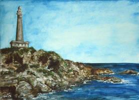 Cabo de Palos watercolor by LauraMSS