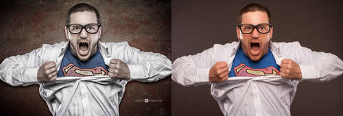 retouch superman by andrzejsiejenski