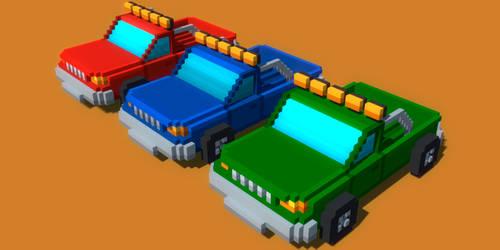 Voxel Rancher Car by rubengcdev