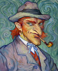 uncle Ayrat_van Gogh style by Zionka