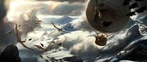 Balloon Battle by ConceptArtOrg