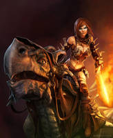 Dragon Rider by ConceptArtOrg