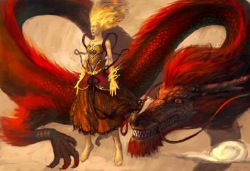 Dragon by ConceptArtOrg