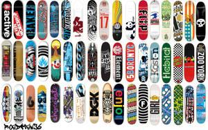 Skateboard Decks Wallpaper by roadman36