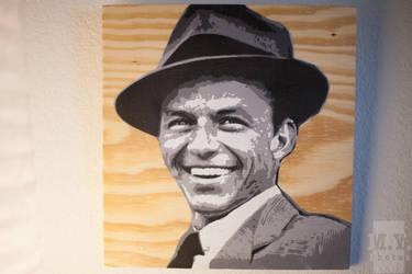 Frank Sinatra Stencil by ffentoozler