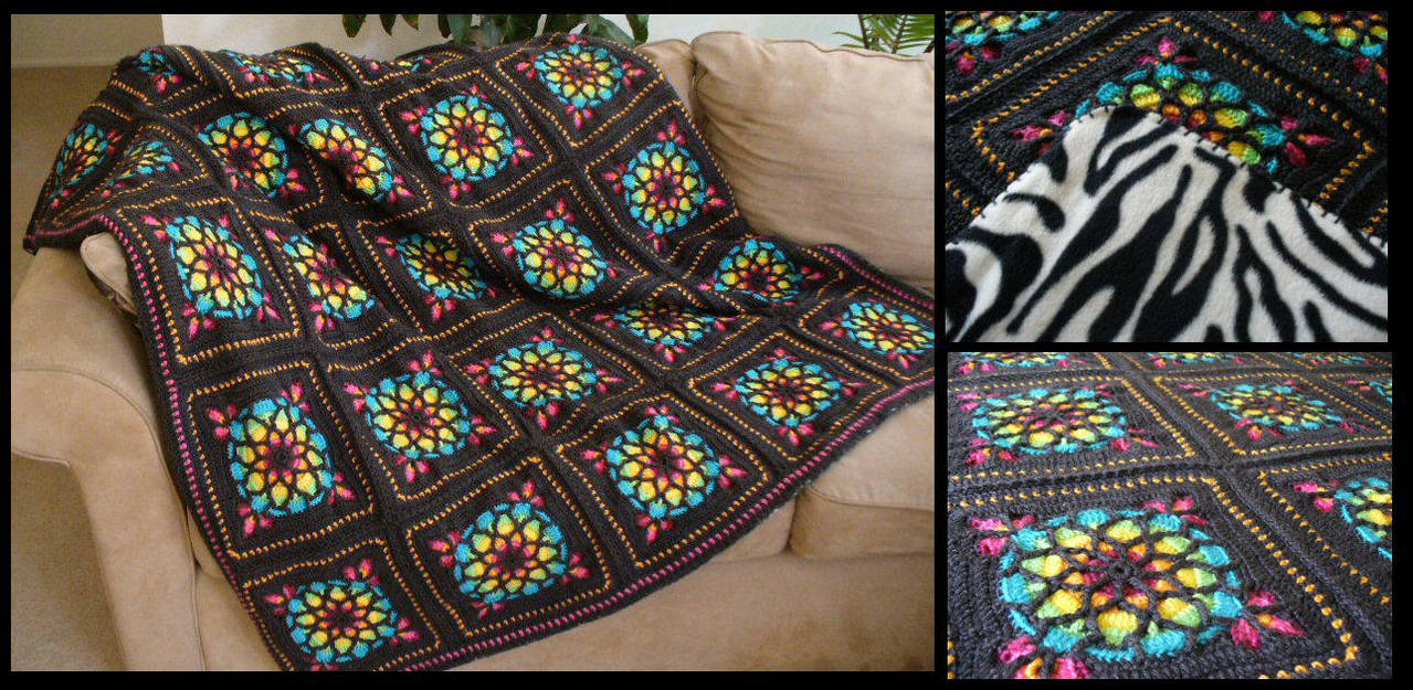 Ined Glass Crochet Afghan Pattern Topsimages