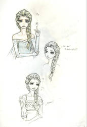 Another pieces of Elsa drawings... by 01starseeker
