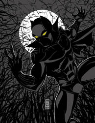 Black Panther on the prowl by cgrapa