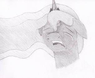 When dreams break - shaded (Luna) by Fizzban08