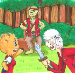 Pokecitia - Fighting Kibaboom by ArtsySnail