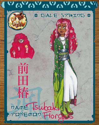 Pokimono: Maede Tsubaki by ArtsySnail