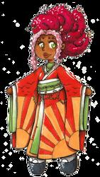Pokimono: Tsubaki as a Ho-oh by ArtsySnail