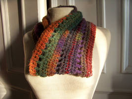 Colorful Crocheted Cowl by celticbard76