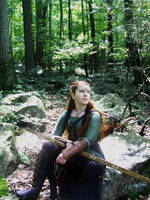 Elven Ranger--Forest Sunlight by celticbard76