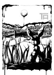 The Field is covered with... - INKTOBER 05 by TenmaRKO