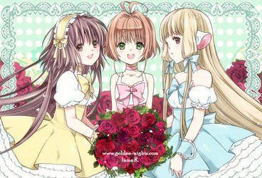 Postcard - Clamp girls. by inma