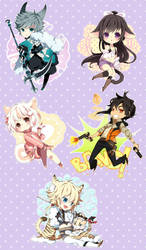 Chibi commission batch 31 by inma