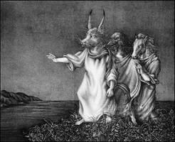 The Three Classmates -litho- by EllieOkamoto