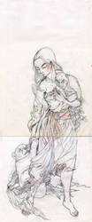Under Drawing for 'Yamauba' by EllieOkamoto