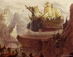 Skywhale Dock by MarkBulahao