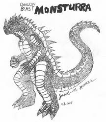 Dragon Beast MONSTURRA-9-2-2018 by JacobSpencerKaiju79